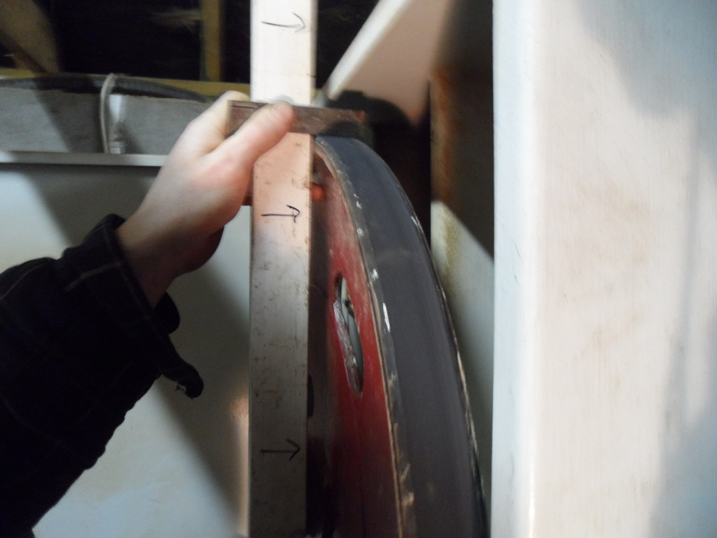 Checking for uniform tire height.JPG